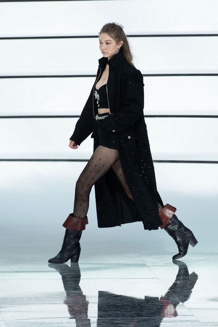 Gigi Hadid Walks at Chanel Fashion Show in Paris