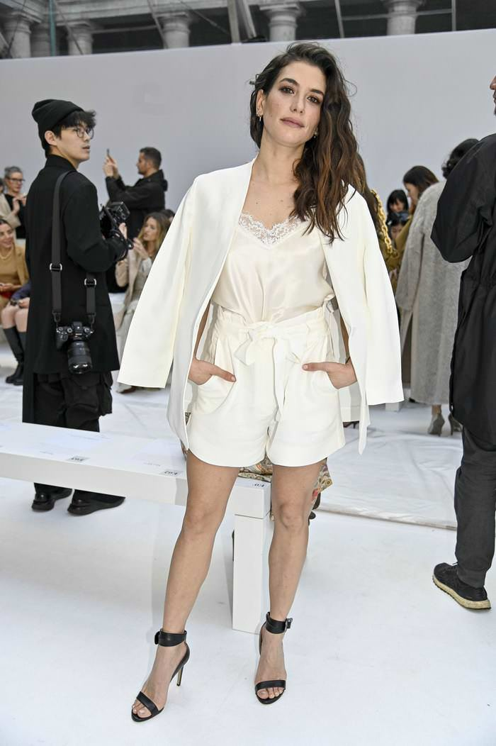 Giulia Michelini at Max Mara show at Milan Fashion Week