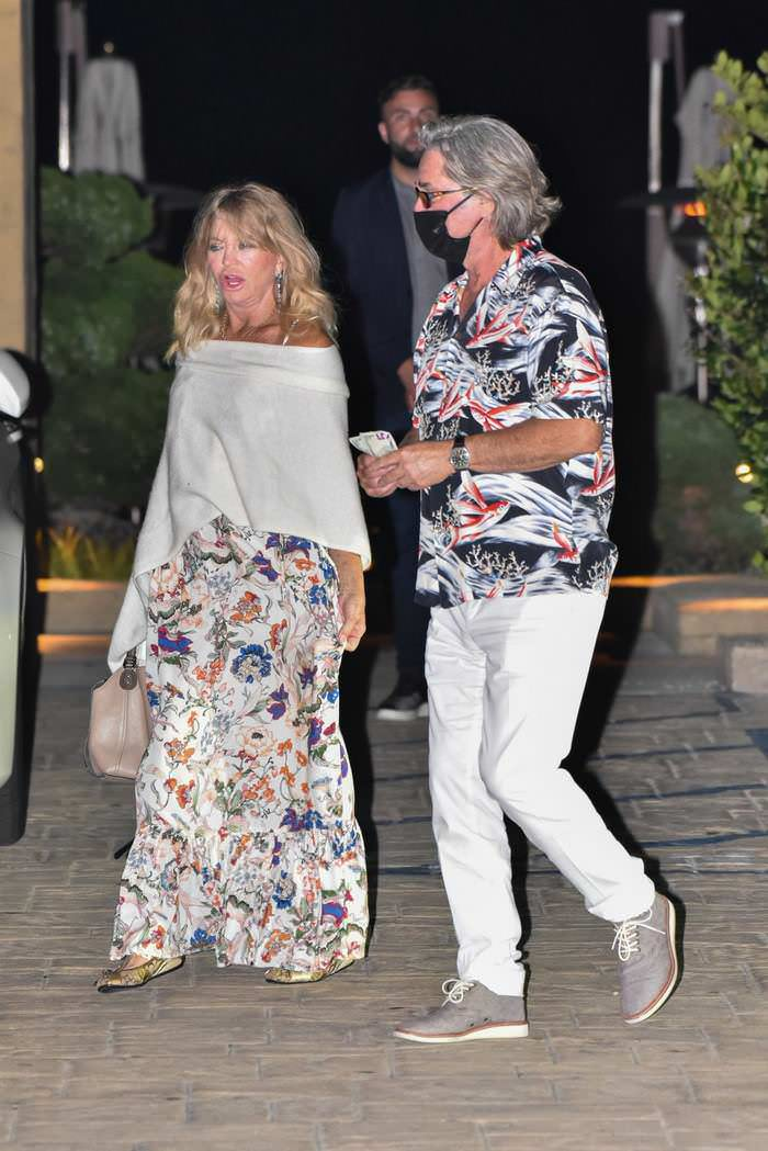 Goldie Hawn and Kurt Russell Step Out for an Expensive Dinner