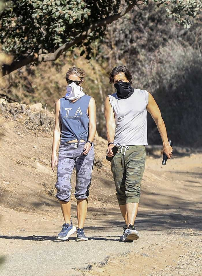 Gwyneth Paltrow and Brad Falchuk Hiked in a Very Similar Outfits in LA