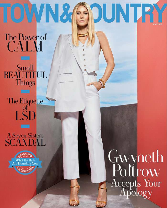 Gwyneth Paltrow in Town & Country Magazine May 2020