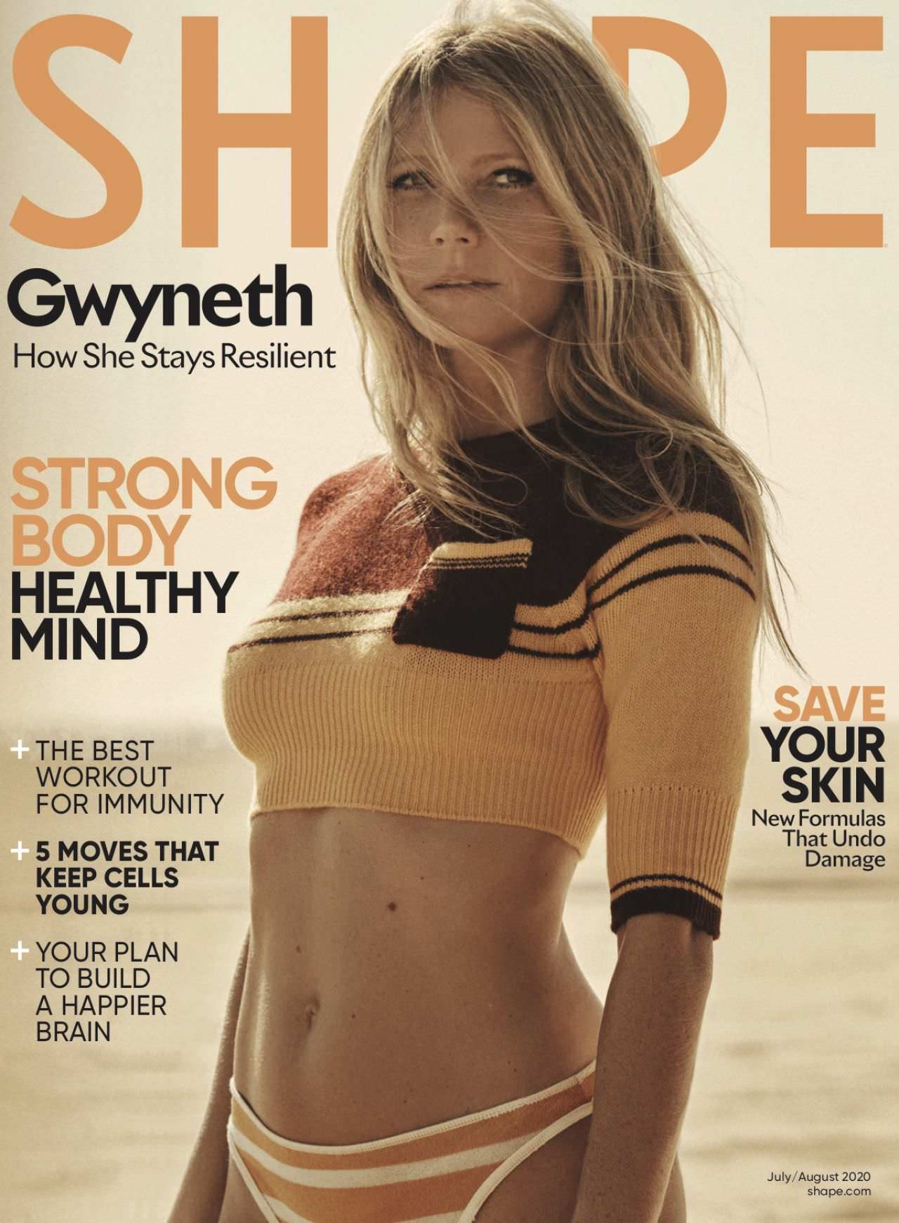 Gwyneth Paltrow Shows Off Her Toned Body for Shape Magazine