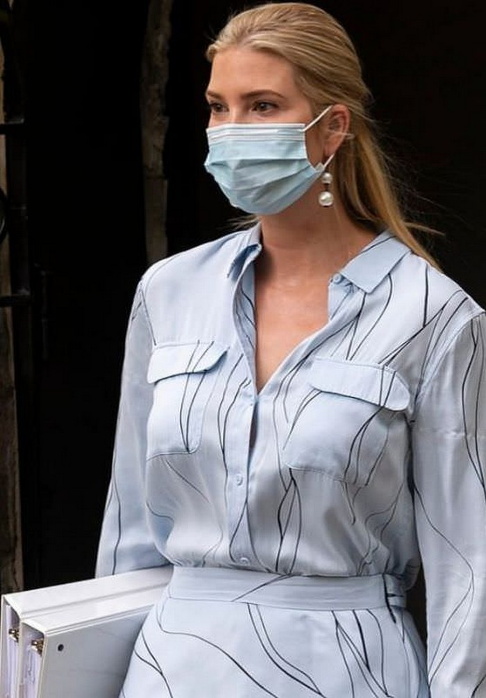Ivanka Trump Matches her Outfit with her Face Mask