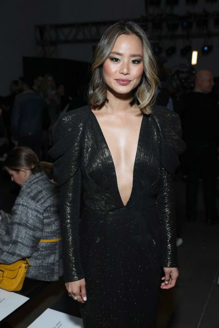 Jamie Chung at Pamella Roland Show at New York Fashion Week