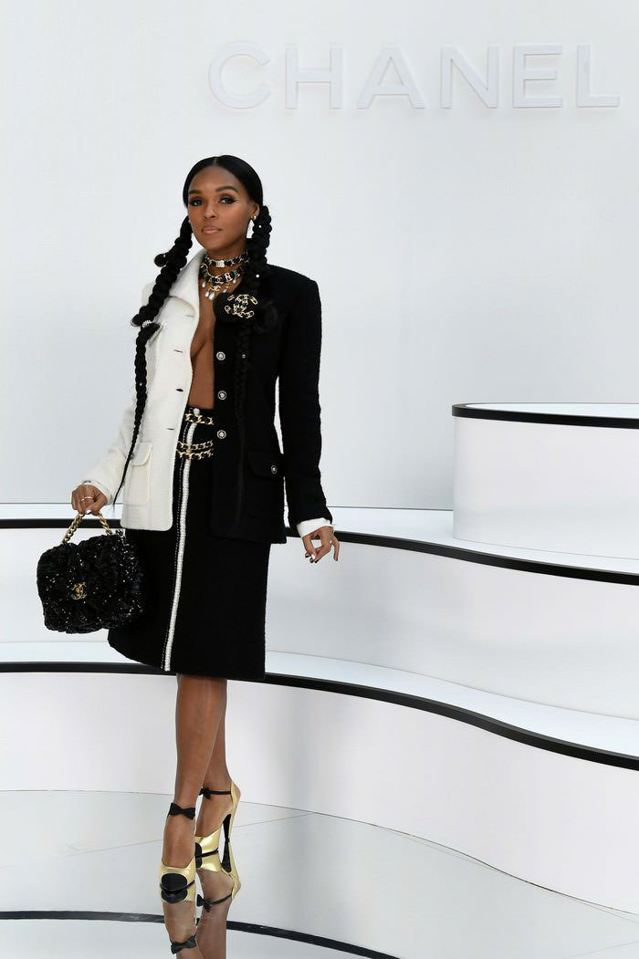 Janelle Monae at Chanel Show at Paris Fashion Week