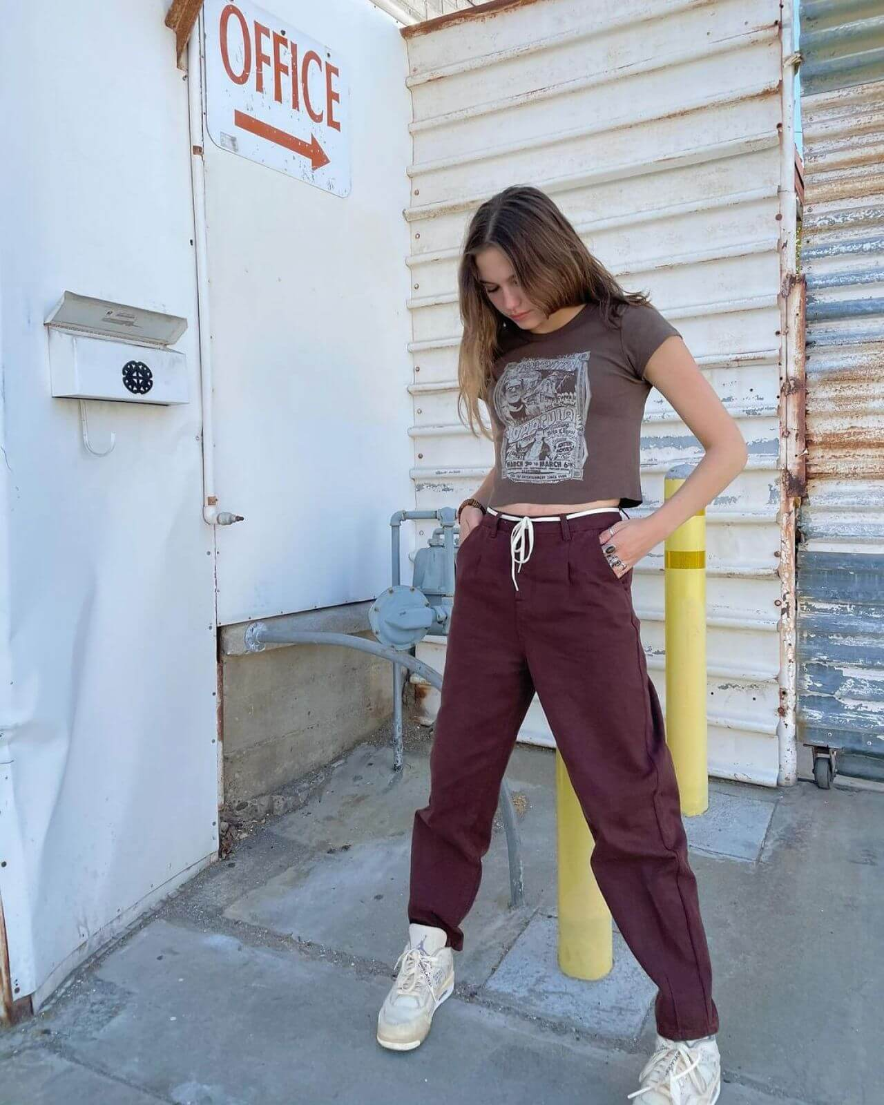 Jayden Bartels Posing in Chic Outfit on Instagram