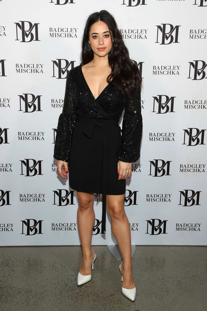 Jeanine Mason at Badgley Mischka Show at New York Fashion Week