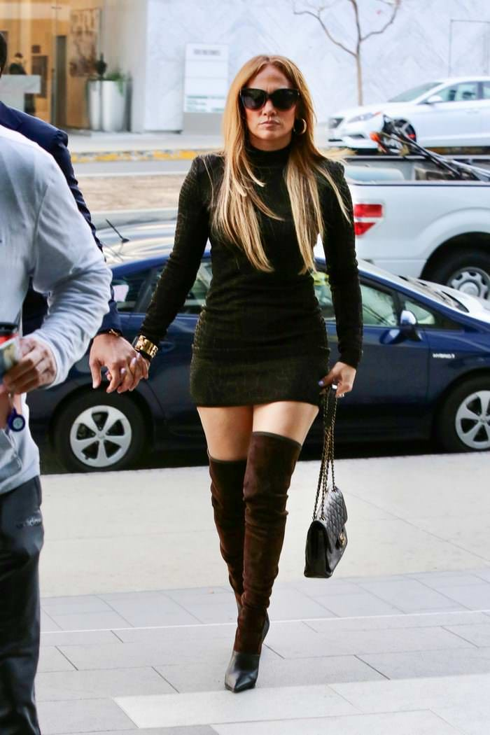 Jennifer Lopez Unleashes Animal Instinct while Arriving at Business Meeting
