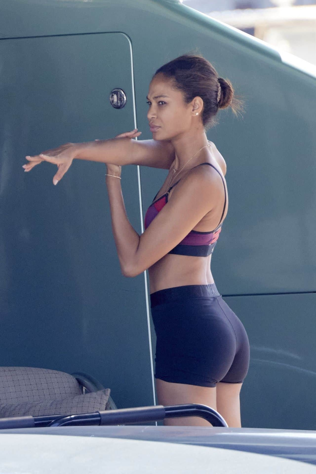Joan Smalls and Henry Junior Chalhoub Work Out on a Yacht in St. Tropez
