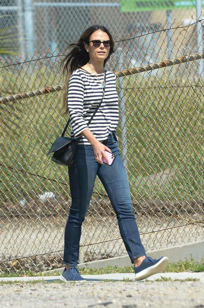 Jordana Brewster Out in Casual Stroll in LA