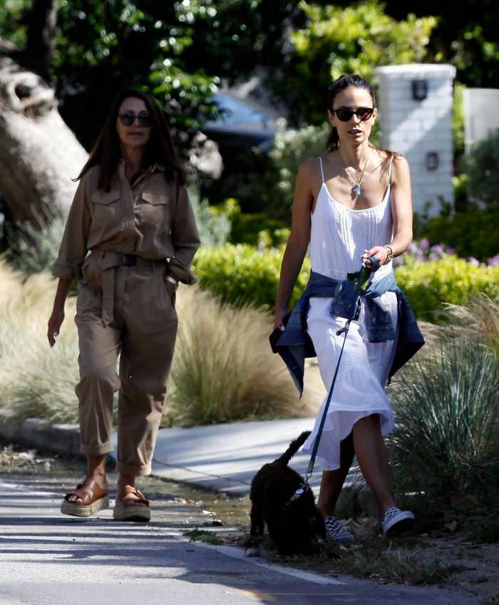 Jordana Brewster Taking her New Puppy on a Walk