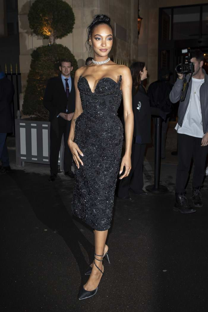 Jourdan Dunn Arrives at the CR Fashion Book: X Redemption Party
