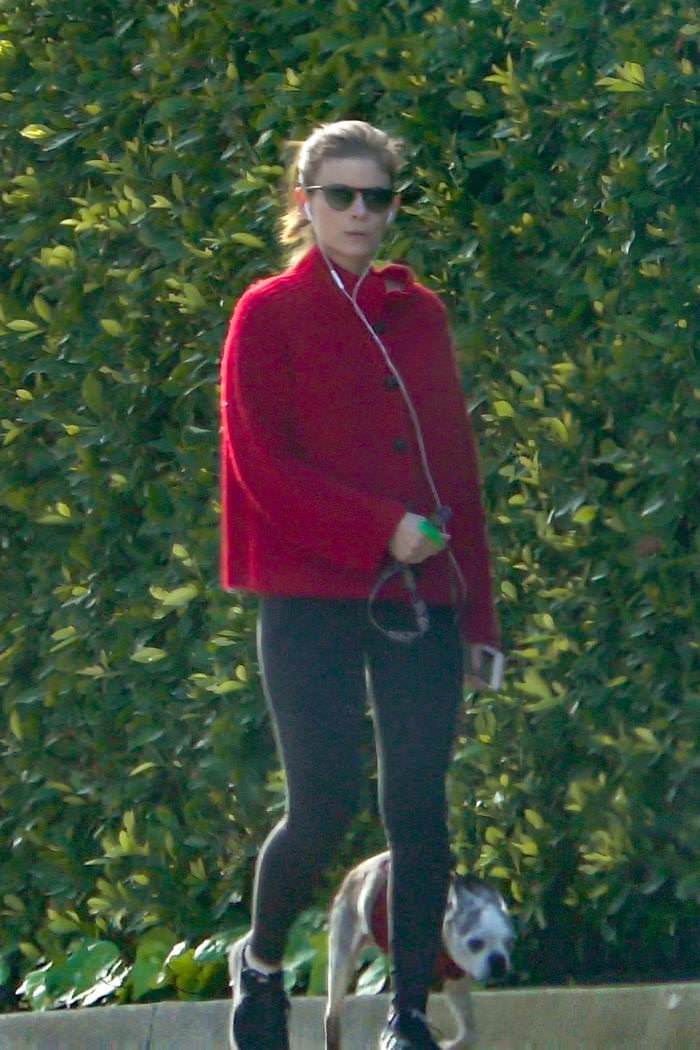 Kate Mara Take the Dog for a Walk in Los Feliz