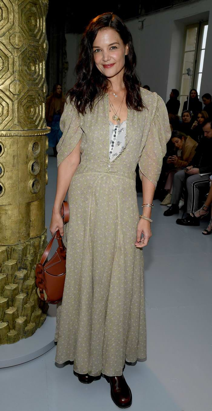 Katie Holmes at Chloe Fashion Show at Paris Fashion Week