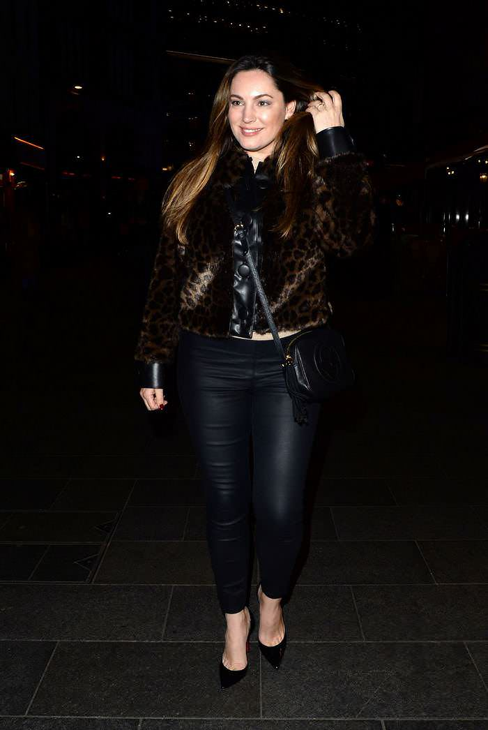 Kelly Brook Outside Global Radio in London