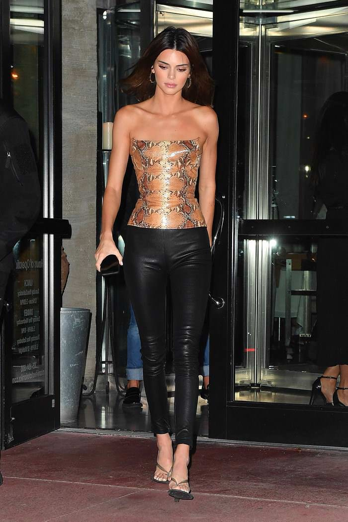 Kendall Jenner at Estiatorio Milos in Miami Beach
