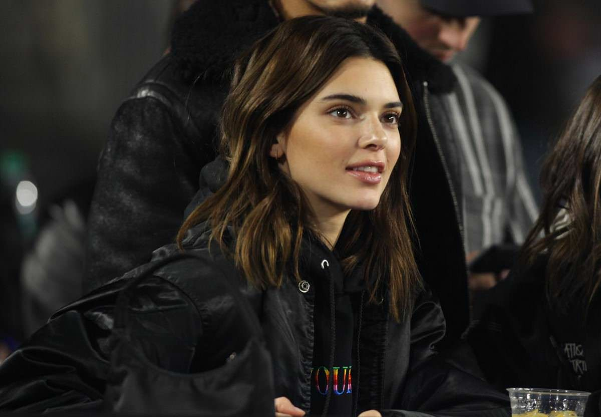 Kendall Jenner at Los Angeles Rams vs. Baltimore Ravens Game in LA