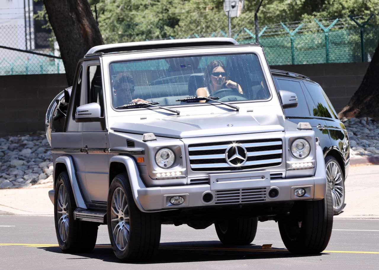 Kendall Jenner Drives Devin Booker Around in her G-Wagon