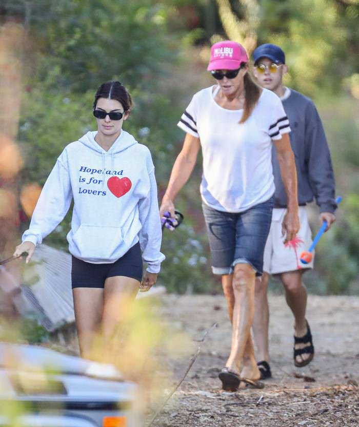 Kendall Jenner Hikes with her Dad Caitlyn Jenner in Malibu