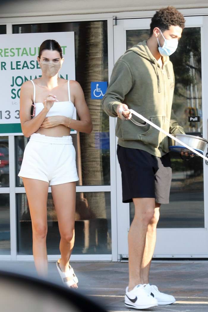 Kendall Jenner with her BF Devin Booker and his Dog in Malibu