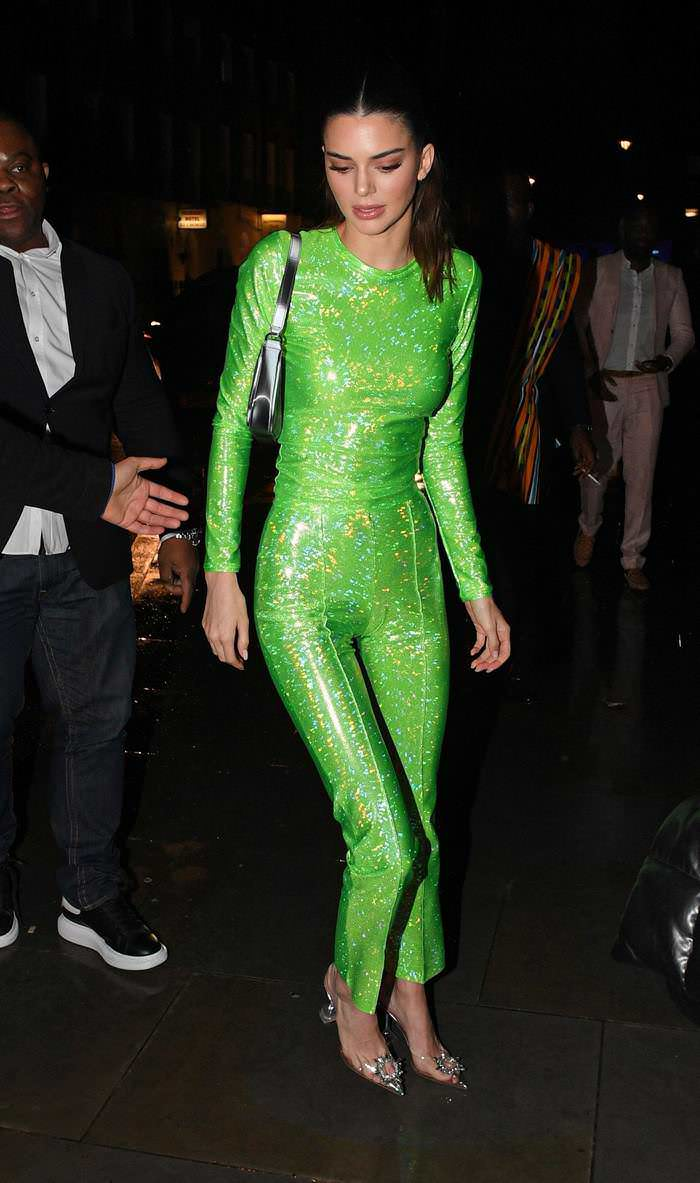 Kendall Jenner Wowed in a Vibrant Green at the Sony BRIT Awards 2020 After-Party
