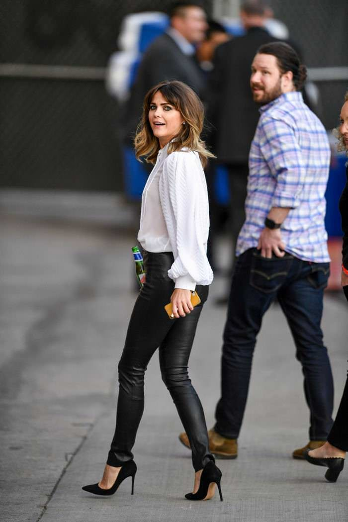 Keri Russell Arriving at the Jimmy Kimmel Live in LA