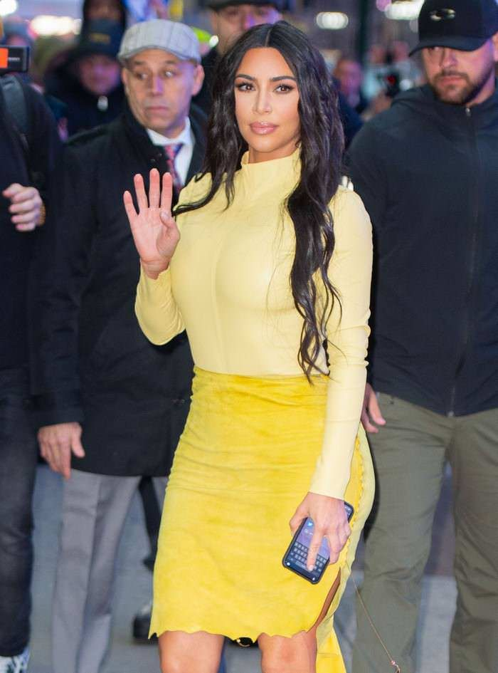 Kim Kardashian Arriving at Good Morning America in Times Square in NYC
