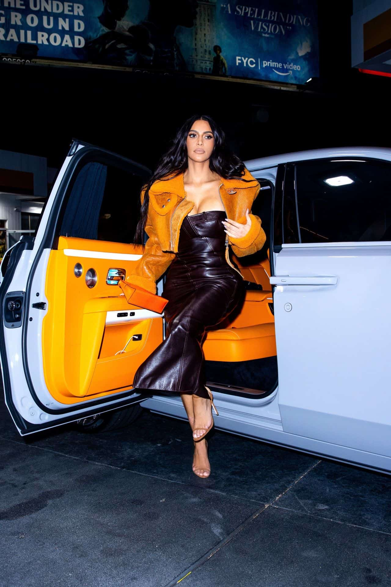 Kim Kardashian Snuck Out for a Snack in a Dior Dress and YEEZY Jacket Fashioned by EX Kanye West Despite Reports Claiming that she's Worried about Dating Again