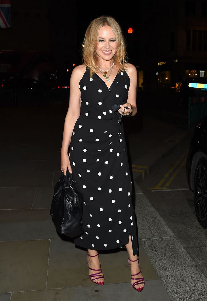 Kylie Minogue Looked Incredible as she Enjoyed a Night Out at The Ritz Hotel