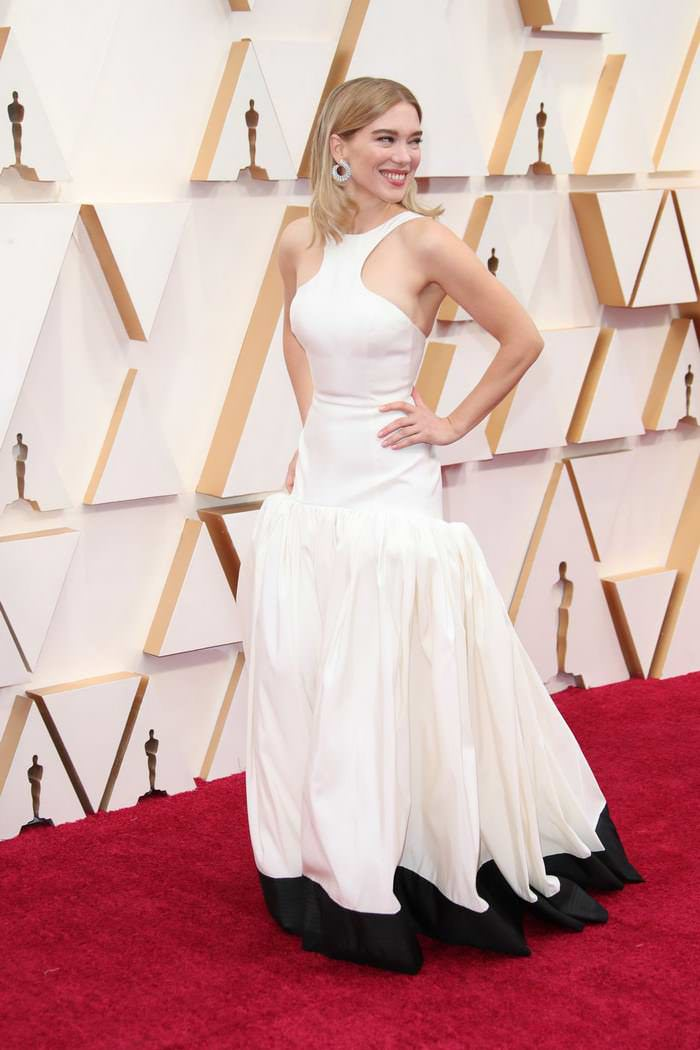 Lea Seydoux at 2020 Oscars Red Carpet in Los Angeles