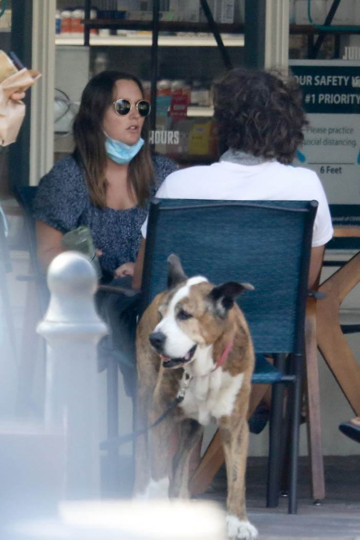 Leighton Meester and Adam Brody Enjoy a Break from Kids in Cafe