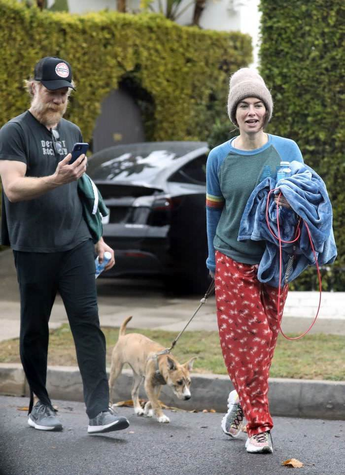 Lena Headey is Smiling While She Leaves Gym With her Boyfriend