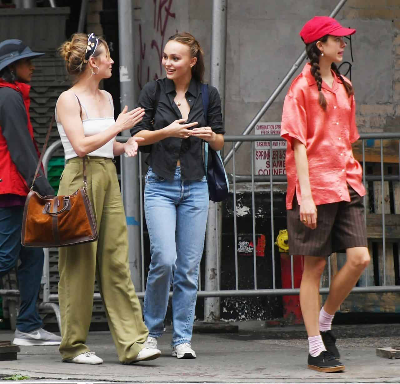 Lily-Rose Depp and Margaret Qualley Out in New York City