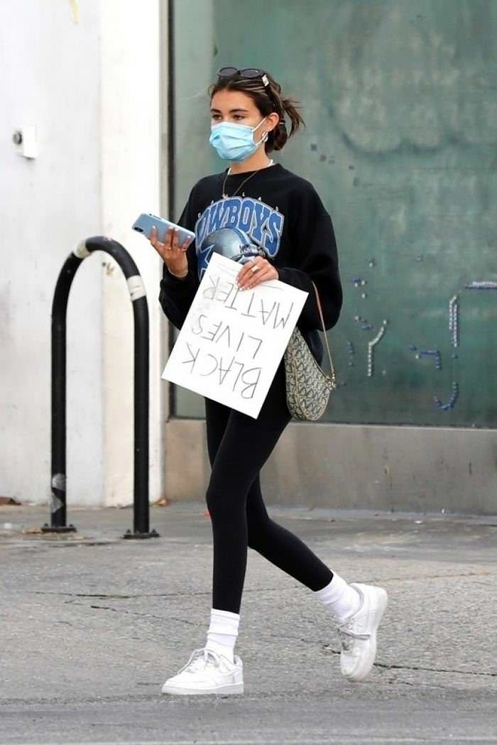 "Madison Beer Carries a Handmade ""Black Lives Matter"" Sign"