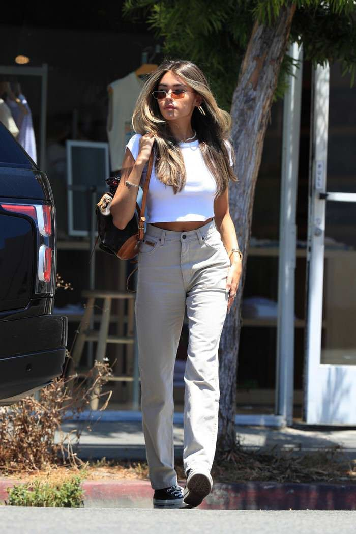 Madison Beer in Casual Outfit Steps Out for Shopping in LA