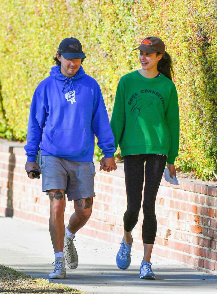 Margaret Qualley and Shia LaBeouf on Date in Los Angeles