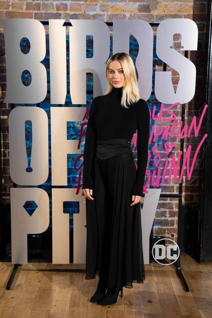 Margot Robbie at Harley Quinn's Roller Disco Pop-up Photocall in London