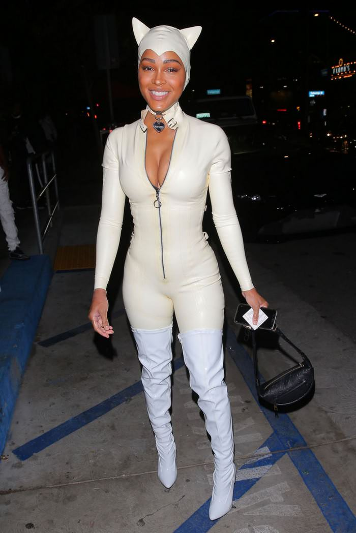 Meagan Good as Catwoman at Halloween Party in West Hollywood 2020
