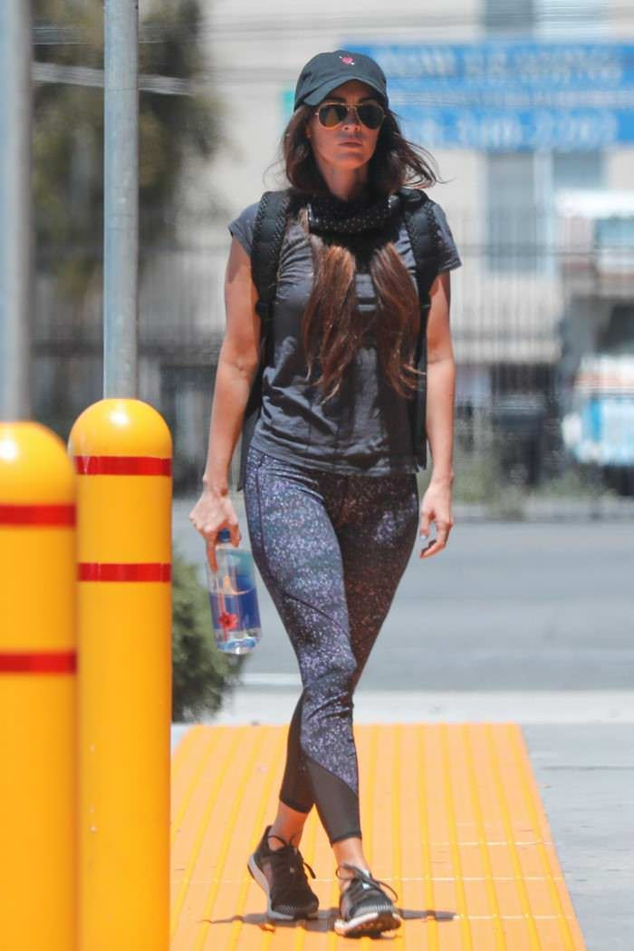 Megan Fox Heads to a Pharmacy in her Athletic Wear in Calabasas