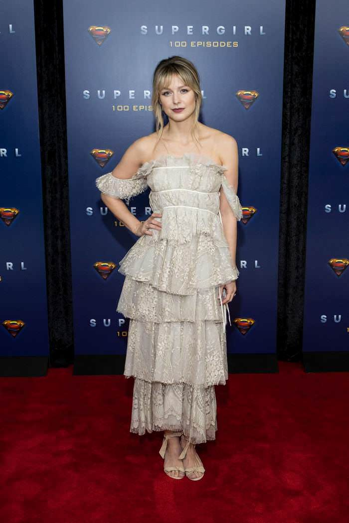 Melissa Benoist Celebrate Supergirl's 100th Episode