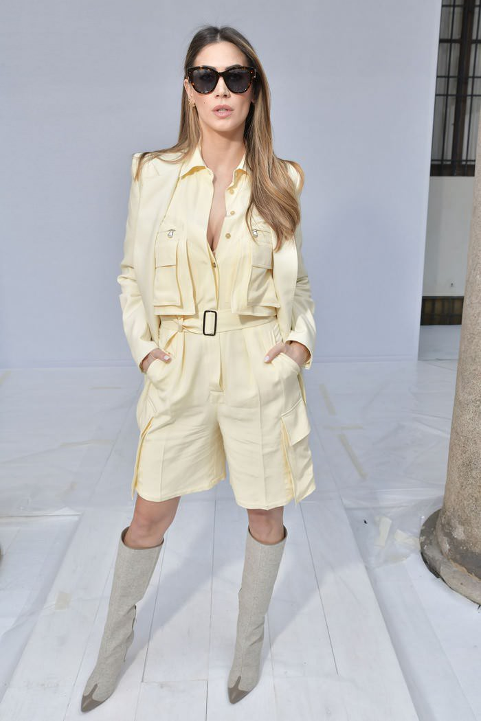 Melissa Satta at the Max Mara Show During Milan Fashion Week