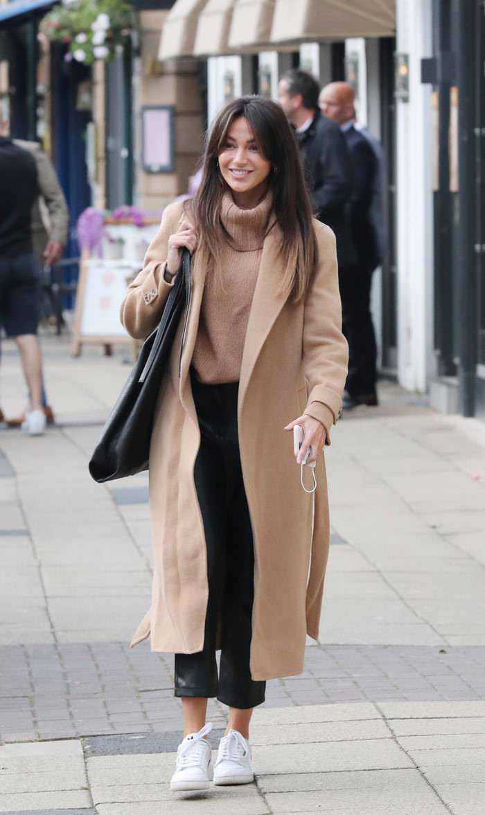 Michelle Keegan Nails a Chilly Autumnal Chic Look as She Heads Out for Lunch