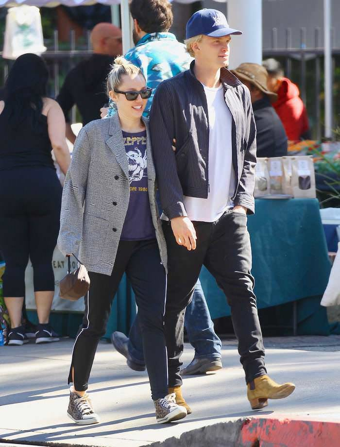 Miley Cyrus & Boyfriend Cody Simpson Go Shopping in Calabasas