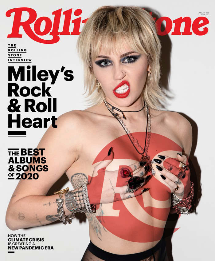 Miley Cyrus Posing for Rolling Stone Magazine's January 2021 issue