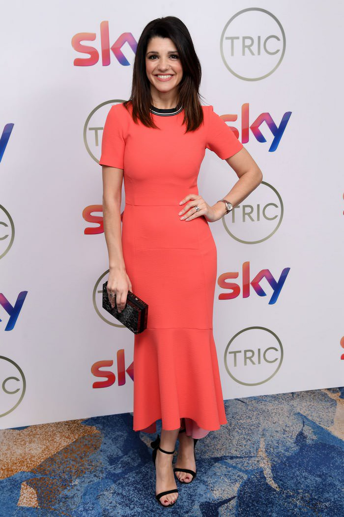 Natalie Anderson at TRIC Awards at the Grosvenor House Hotel in London