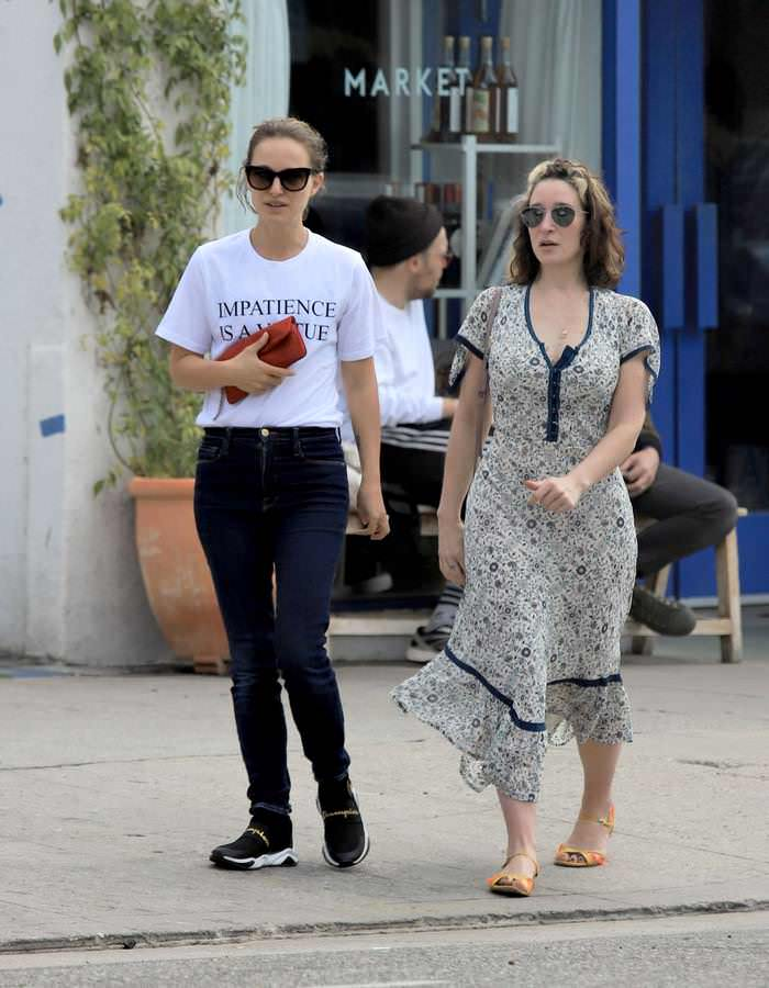 Natalie Portman Casual Outfit Out in Los Angeles