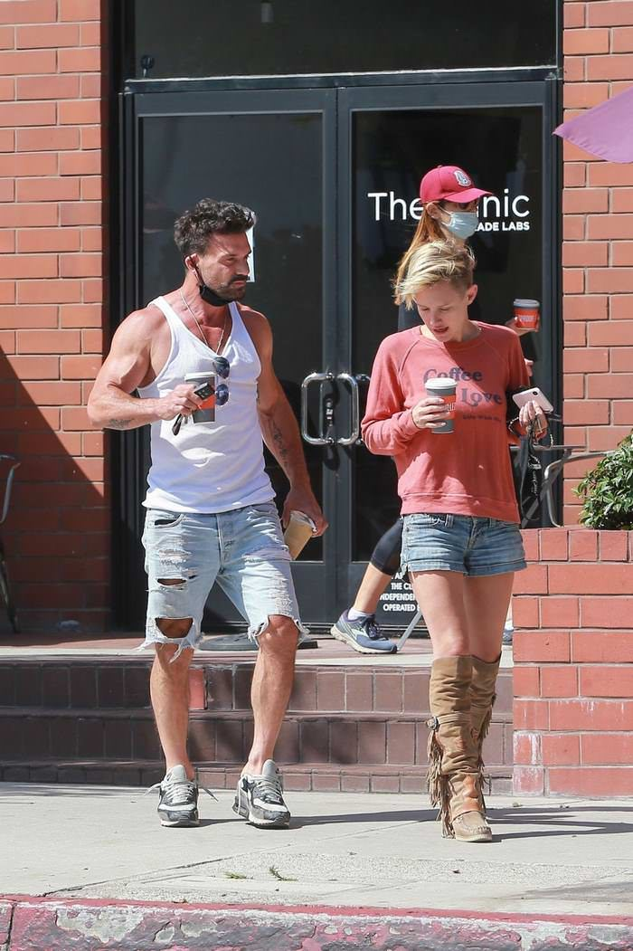 Nicky Whelan Stepped Out to Grab a Coffee and Meets Up with Frank Grillo