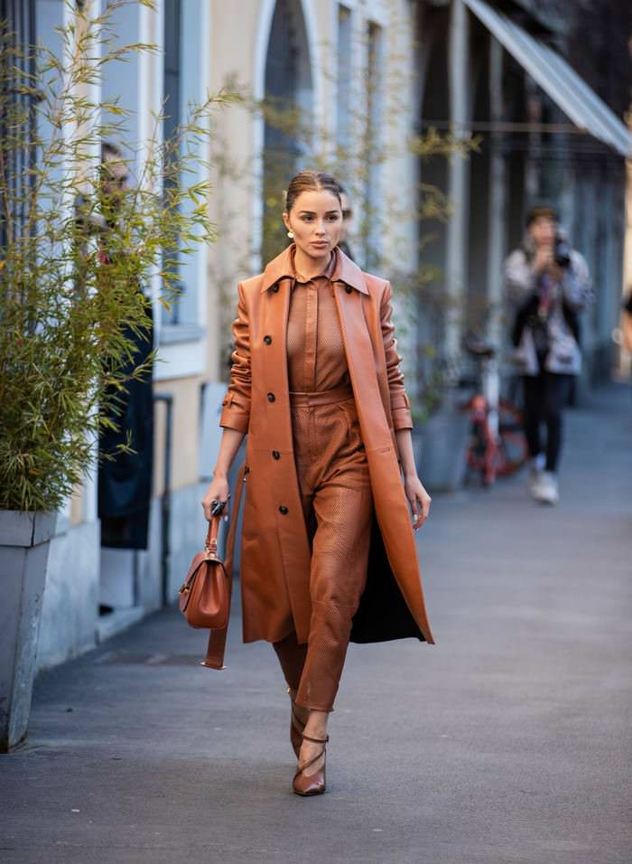 Olivia Culpo in Tod's Trench Coat Out in Milan