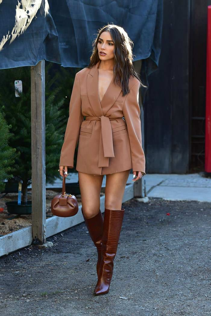 Olivia Culpo Shopping for a Christmas Tree in Los Angeles
