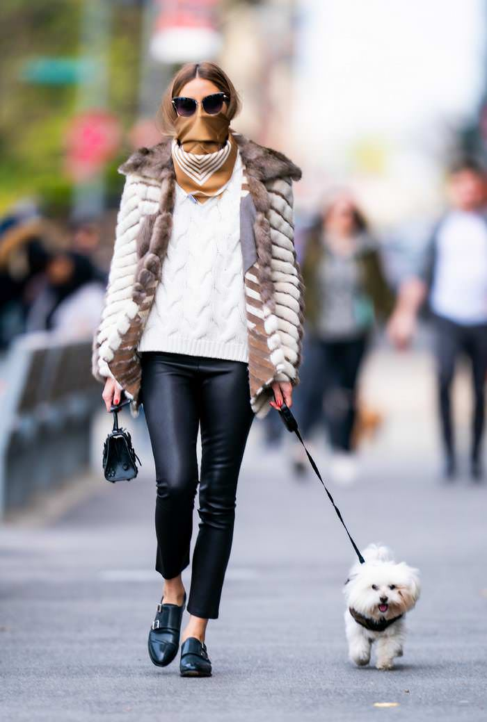 Olivia Palermo Looking Chic While Walking her Dog